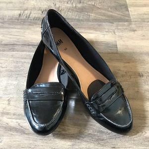H&M Black Patent Loafers